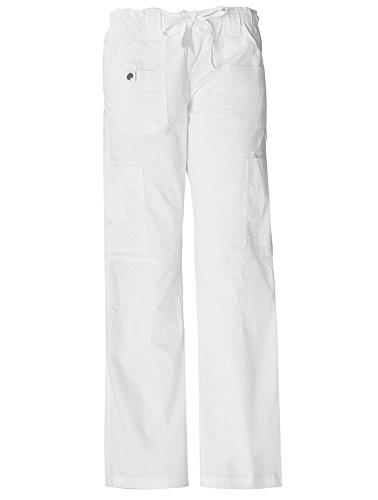 Dickies Women's GenFlex Cargo Scrubs Pant, White, XX-Large