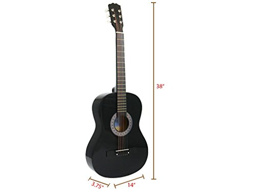 Review Star Acoustic Guitar 38 Inch with Bag, Tuner, Strings, Picks and Beginner's Guide, Black