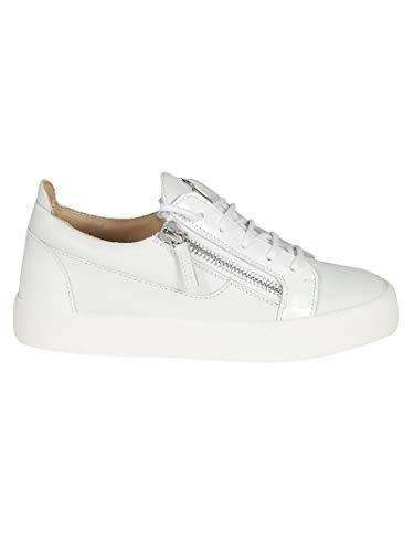 Cuero Zapatillas Zanotti Rw70001074 Mujer Blanco Giuseppe Design fUdBnqBWC