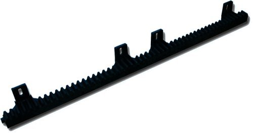 Nylon Gear Racks for Sliding Gate Opener Gear Track for Rolling Gate Operator 13Ft - 4 Sections of 3Ft 3inches each includes mounting hardware - Compatible with Aleko,Beninca,Victory,Viper,FAAC,SEA,BFT and other European brands
