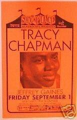 Tracy Chapman Jeffrey Gaines Rare Original Portland Concert Tour Gig Poster