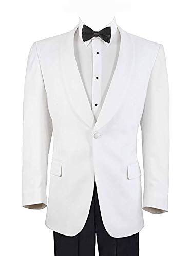 Men's White Formal Dinner Jacket - 38 Regular