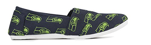 NFL Football On Canvas Collectibles Seattle Forever Slip Seahawks Shoes Team Pick Ladies Summer Womens 2015 UIxExqwS