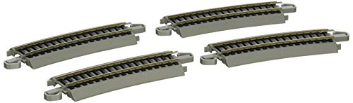 "Snap Track Section - Bachmann Trains Snap-Fit E-Z Track Half Section 18"" Radius Curved Track (4/card)"