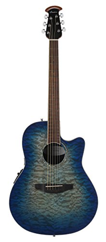 Ovation CS28P-RG Celebrity Standard Exotic Super Shallow Depth, Acoustic-Electric Guitar, Caribbean Blue Burst