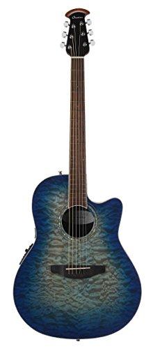 Super Shallow Acoustic Electric Guitar - Ovation CS28P-RG Celebrity Standard Exotic Super Shallow Depth, Acoustic-Electric Guitar, Caribbean Blue Burst
