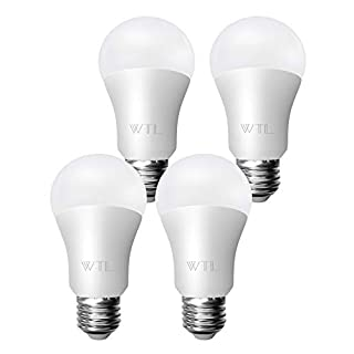 WTL A19 LED Light Bulbs, 100w Equivalent(15W), 5000K Daylight White, 1600Lm Non-dimmable, E26 Medium Base for Home & Commercial Lighting