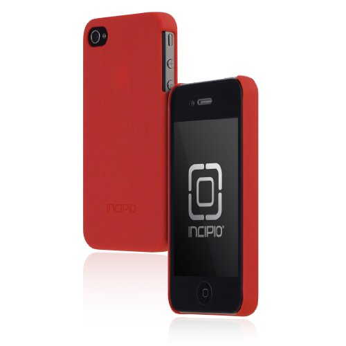 Incipio iPhone 4/4S feather Ultralight Hard Shell Case - 1 Pack - Carrying Case - Retail Packaging - Matte Red