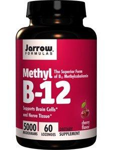 Jarrow Formulas Methylcobalamin (Methyl B12), 5000mcg, 180 Lozenges Pack (tj3q9zf) by Jarrow