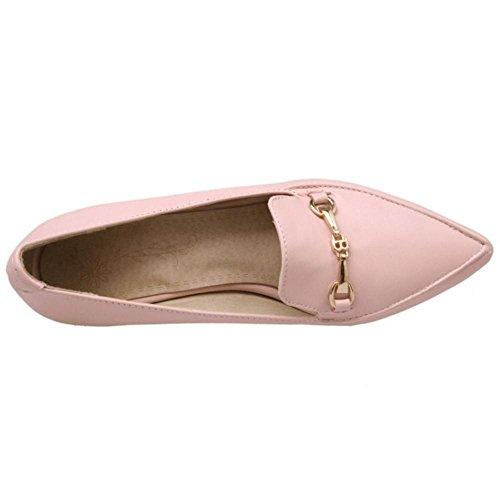 Pumps Cordones Sin Tacon Zapatos De Mujer RAZAMAZA Pink Cuna aIqHHS
