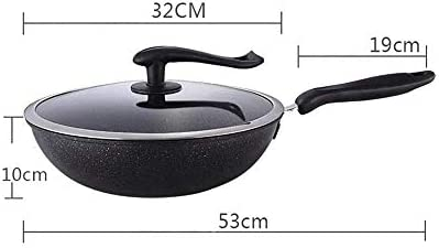 Batterie de cuisine antiadhésives Casseroles et poêles Set, 3 pièces, noir lalay