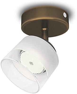 Barra de focos con 3 luces Philips myLiving Fremont iluminaci/ón interior color bronce luz blanca c/álida IP20 LED