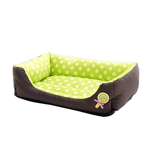 Pet Dog Lounge Sofa, Inkach Small Dogs Cats Square Nest Bed, Soft Cushion Couch Sleeping Mat Pad Comfy Warm Puppy Kitten Cave House (S, Green)