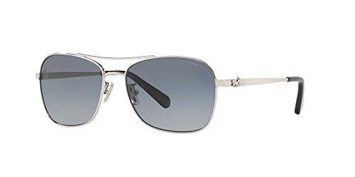 Coach Womens Sunglasses Silver/Blue Metal - Polarized - - Glasses Coach Blue