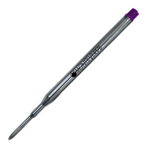 Monteverde Ballpoint Refill to Fit Sheaffer Ballpoint Pens, Medium Point, Soft Roll, Purple, 2 per Pack (S132PL)