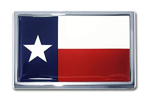 Elektroplate Large Texas Flag Chrome Auto ()