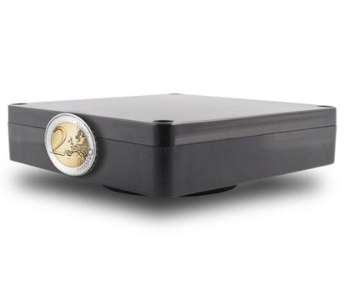 NEU: Wasserdichte Magnet-Box FLAT (Flach) passend zu den GPS Trackern Tk102 V3, V6, Tk2000 und TK5000 - 11,5cm x 11,5cm x 2,7cm - Marke Incutex