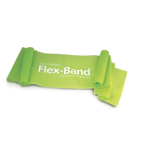 STOTT PILATES Non-Latex Flex-Band Extra Strength (Lime), 6 foot 5 inch / 198 cm