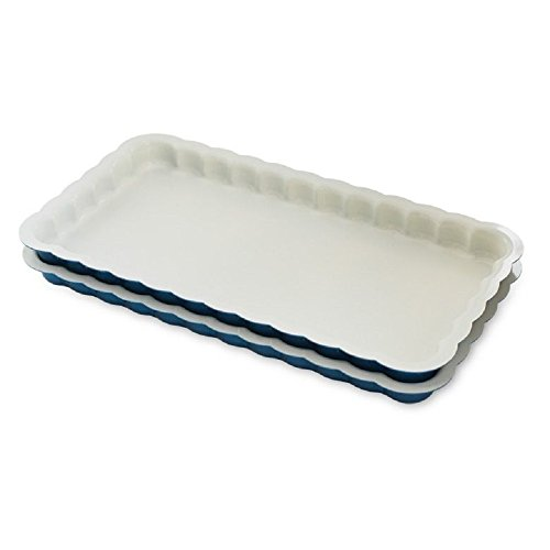 Nordic Ware 31022 Celebrations Stackable Loaf Pan, Set of 2, 2-Piece Set, Navy, White by Nordic Ware