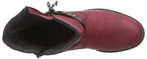 Rieker 72795, Women's Boots Red - Rot (Wine/Schwarz / 35)