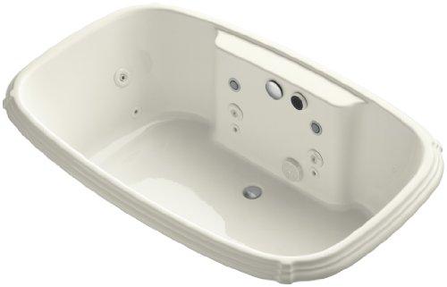 KOHLER K-1457-AH-96 Portrait 67-Inch X 42-Inch Drop-In Effervescence Bath with Spa Package, ()