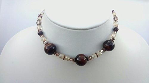 (Red Tiger Eye choker and cluster earring set)