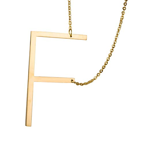 - Aworth Nice Style Stainless Steel Alphabet Jewelry Girls Name Necklace Gift Friendly Letter A B C Capital Pendant Chain