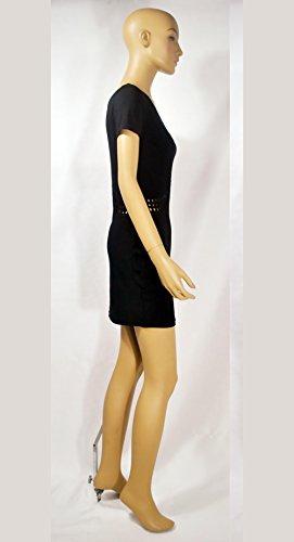 Shoulder Espalda Color Hombro Off Elegante Tubo De Mujer Fit BIRAN Corta Casual Vestidos Sólido Vestido Corto De Abierta Manga Slim Oblicuo Verano Hollow wSOWFq7