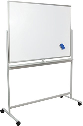 VIVO Mobile Dry Erase Board 48'' x 32'' Double Sided Magnetic Whiteboard Aluminum Frame Rolling Stand (CART-WB48S) by VIVO