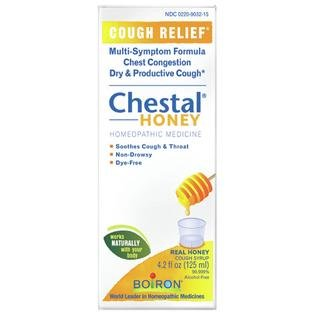 - Boiron Homeopathic Medicine Chestal Homeopathic Cough Syrup, Honey, 4.2-Ounce Glass Bottles (Pack of 3)