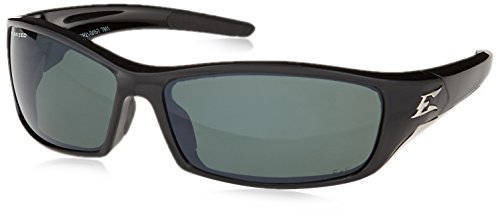Edge Eyewear TSR21-G15-7 Reclus Safety Glasses, Black with Polarized G and 15 Silver Mirror - 15 G Polarized