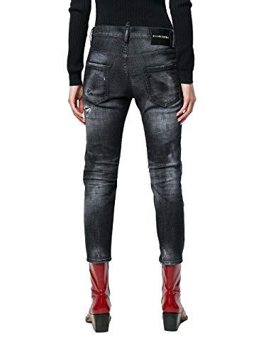 Cotone Nero Jeans Dsquared2 S72lb0145s30357900 Donna fTwq1tZ