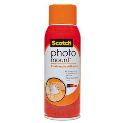 Photo Mount Spray Adhesive, 10.25 oz, Aerosol, Sold as 1 Each