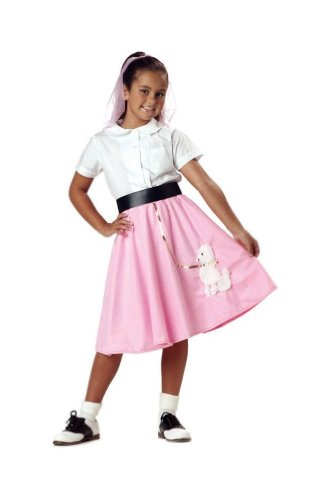 Poodle Costumes Ideas (Poodle Skirt - Child Costume - Small Pink (6-8))