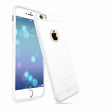 Fundas y estuches para teléfonos móviles, HOCO colorido ultrafino parachoques mate pegue cubierta de la caja suave del silicón para el iphone 6 / 6s ( Color : Blanco , Modelos Compatibles : IPhone 6s  Blanco