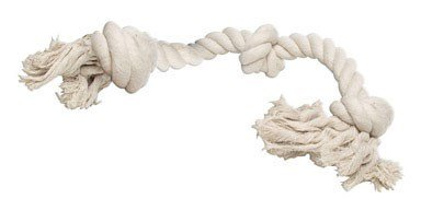 Boss Pet 03780 White Cotton Rope with Knotted Ends Dog Toy Tug