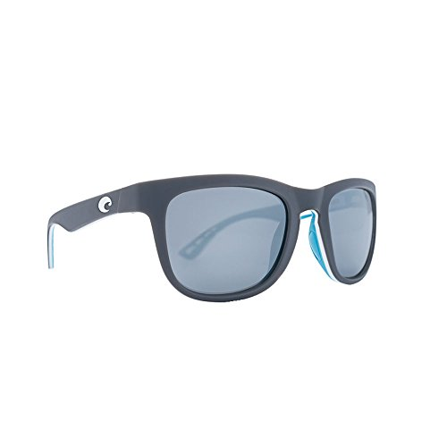 Costa Del Mar COP157OSGP Copra Sunglass, Mt Grey/White/Sea Gls Ocearch Gray Sil - Copra Costa