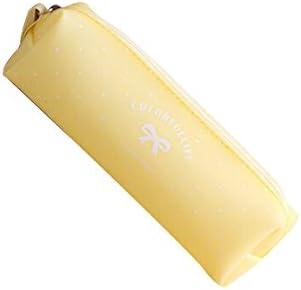 NOVAGO-Estuche escolar - estuche para làpiz de gel de silicona serie del caramelo en colores pastel (Amarillo): Amazon.es: Oficina y papelería