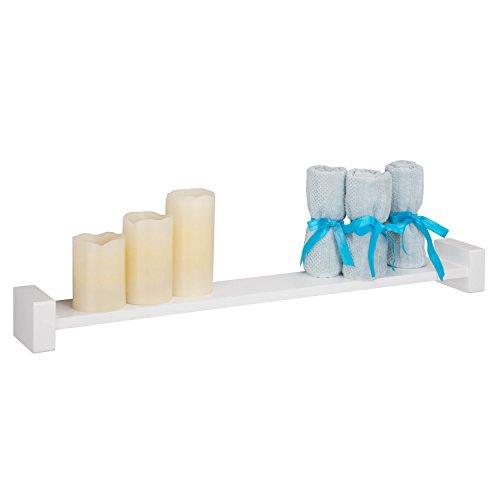 (Honey-Can-Do SHF-04399 Large H-Shape Wall Shelf, White, 29.5 L x 3.94 W x 2.75 H)