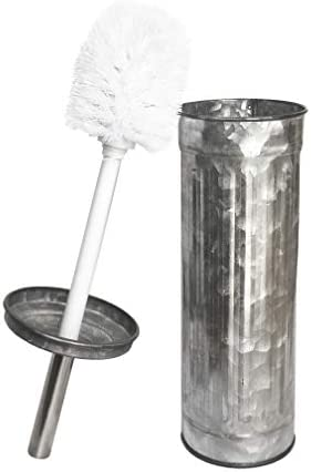 Galvanized Toilet Brush with HolderAdd Farmhouse Rustic Country Home Decor