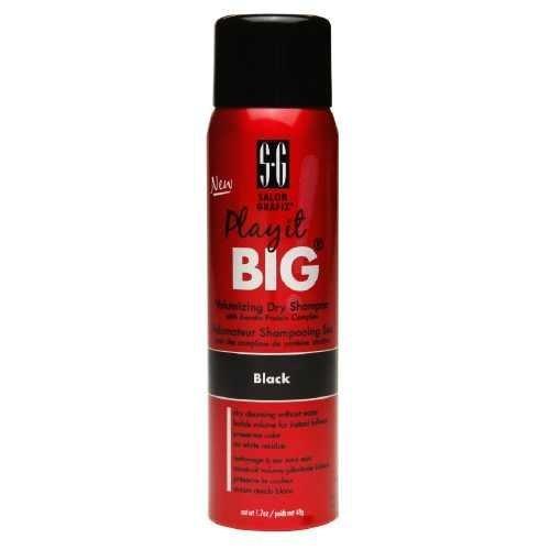 Salon Grafix Play It Big Volumizing Dry Shampoo for Black Hair, Travel Size 1.7 oz by Salon Grafix