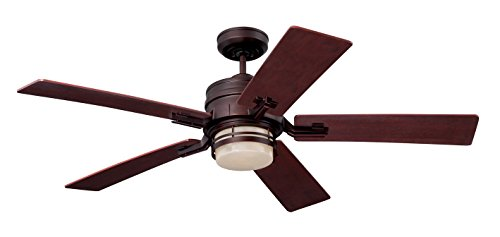 Emerson CF880LVNB Amhurst 54-inch Transitional Ceiling Fan with Reversible Blades, 5-Blade Ceiling Fan with LED Lighting and 4-Speed Wall Control ()