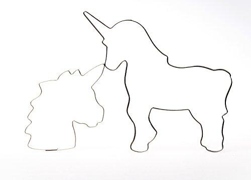 Unicornio cabeza 8 cm + Unicornio 11 cm Städter - Molde para galletas, diseño de arco iris Städter FORMINA: Amazon.es: Hogar