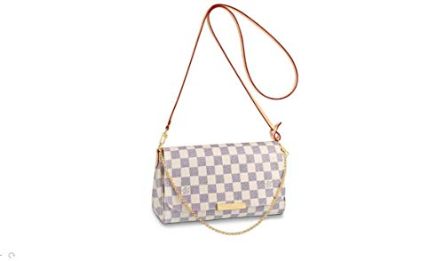 LV Clutch Canvas Favorite - Shoulder Strap Elbow Chain Crossbody WITH BOX (Damier Azur)