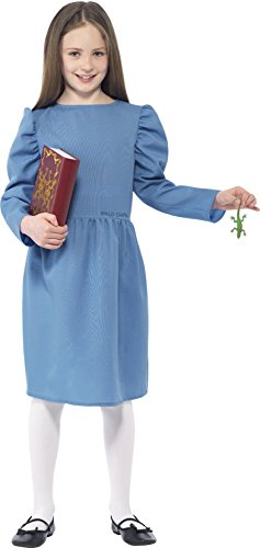 Age 4-6 Blue Girls Roald Dahl Matilda Costume - Roald Dahl Costumes For Girls