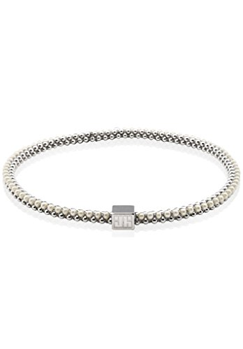 John Humphries Halo Bangle Glass Pearl and Silver (Medium) by John Humphries Designs
