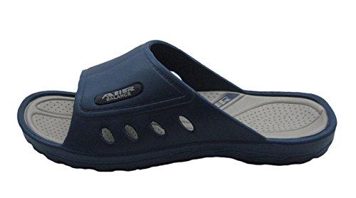 Air Light & Comfortable Men's Classy Shower Beach Sandal Slippers Navy/Gray F3T9GgZlaG