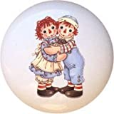 Ceramic Knob - #RA006 - Raggedy Ann Andy