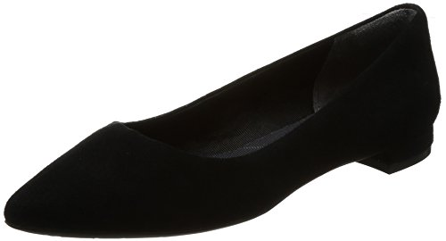 Kid 2 Ballet Motion Black Rockport Damen Total Schwarz Ballerinas Suede Adelyn vvSpq8