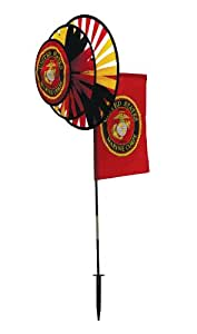 In the Breeze U.S. Marine Corps Dual Spinner Wheels with Flag